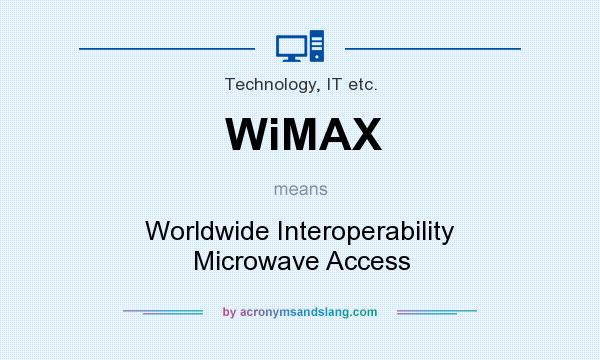 What does WiMAX mean? It stands for Worldwide Interoperability Microwave Access