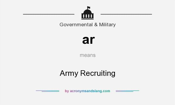 What does ar mean? It stands for Army Recruiting