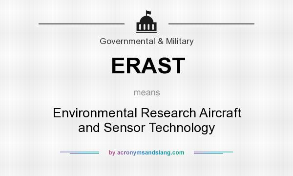 What does ERAST mean? It stands for Environmental Research Aircraft and Sensor Technology