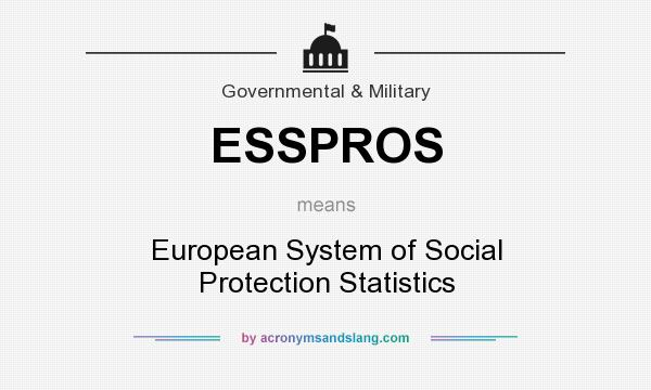 What does ESSPROS mean? It stands for European System of Social Protection Statistics