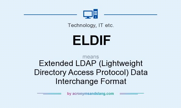 What does ELDIF mean? It stands for Extended LDAP (Lightweight Directory Access Protocol) Data Interchange Format