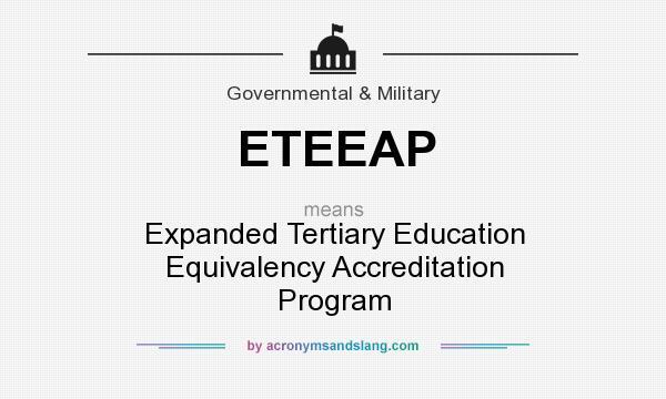 the expanded tertiary education equivalency and Of cebu's expanded tertiary education equivalency and education equivalency tertiary education equivalency accreditation program.