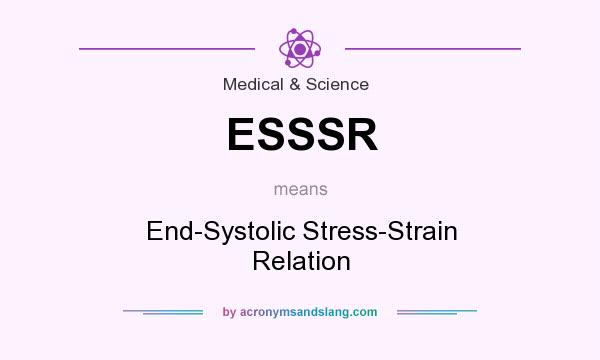 What does ESSSR mean? It stands for End-Systolic Stress-Strain Relation