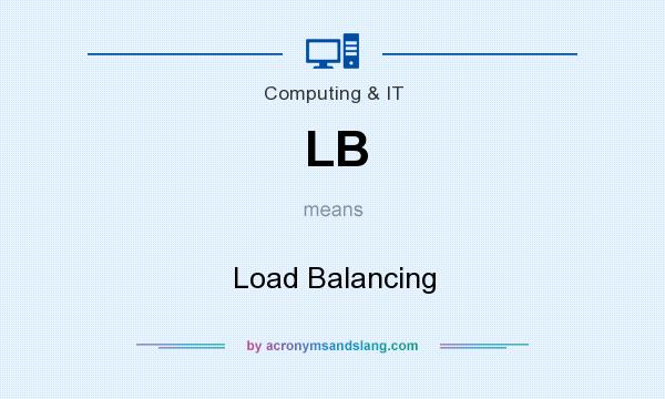 What does LB mean? It stands for Load Balancing