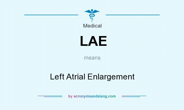 What does LAE mean? It stands for Left Atrial Enlargement
