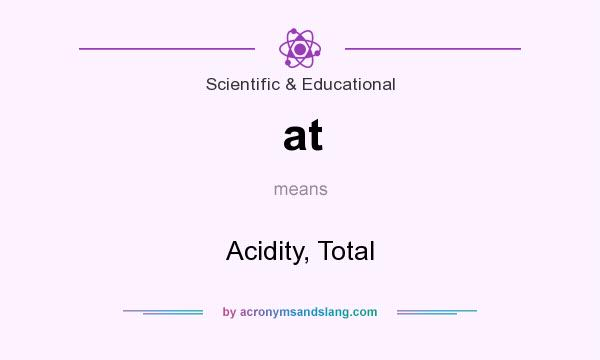 What does at mean? It stands for Acidity, Total