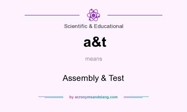 What does a&t mean? It stands for Assembly & Test