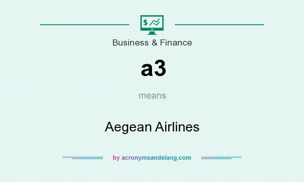 What does a3 mean? It stands for Aegean Airlines
