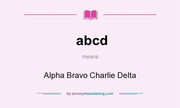 alfa bravo charlie delta