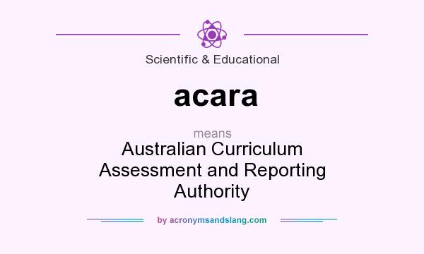 What does acara mean? It stands for Australian Curriculum Assessment and Reporting Authority