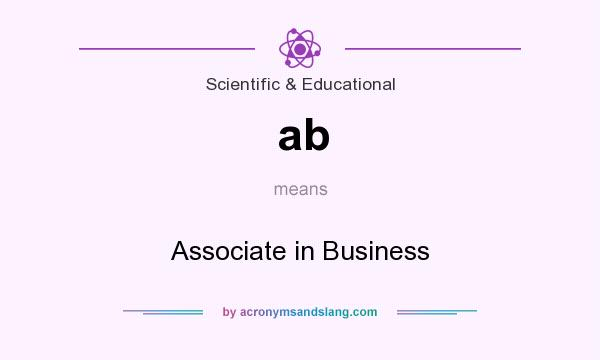 What does ab mean? It stands for Associate in Business
