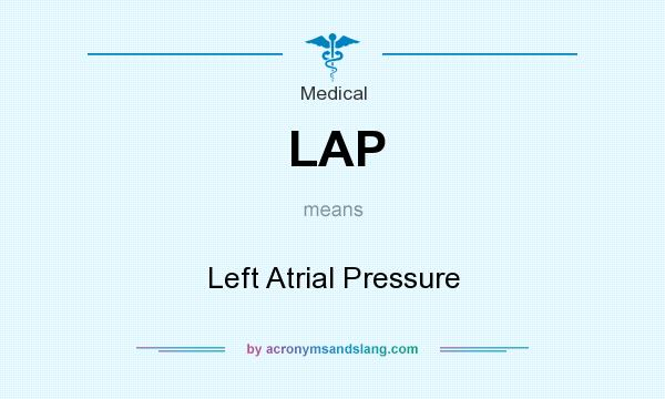 What does LAP mean? It stands for Left Atrial Pressure