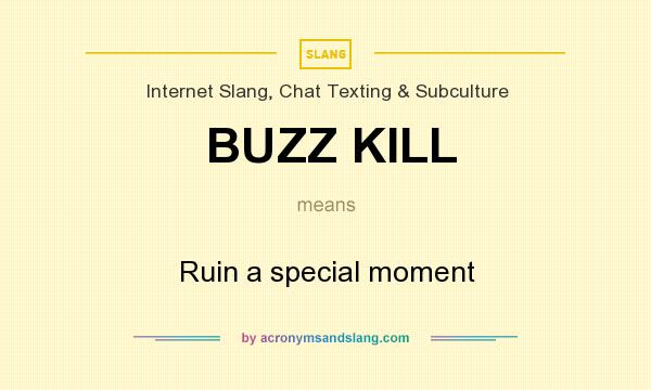 What does BUZZ KILL mean? - Definition of BUZZ KILL - BUZZ KILL stands for Ruin a special moment