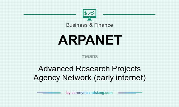 What does ARPANET mean? It stands for Advanced Research Projects Agency Network (early internet)