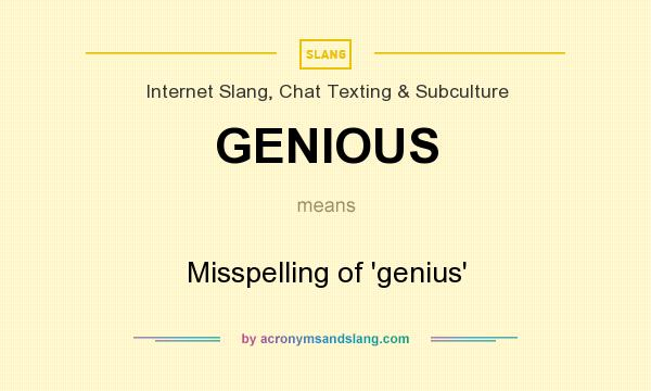 Genius meaning