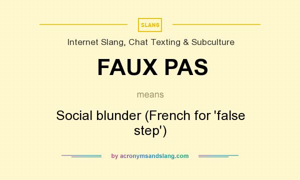 what does faux pas mean definition of faux pas faux