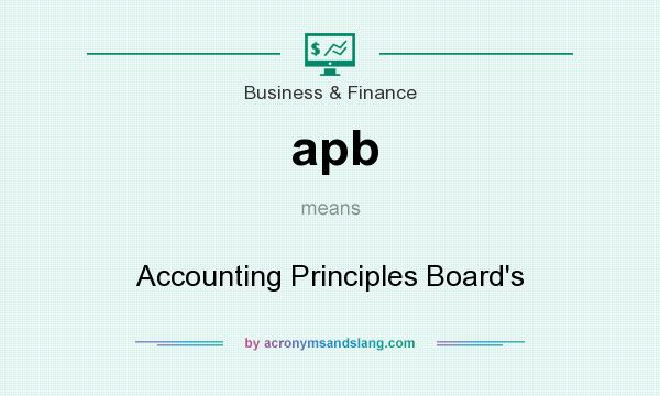 What does apb mean? It stands for Accounting Principles Board`s