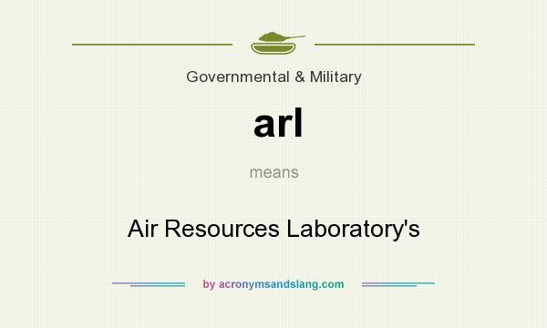 What does arl mean? It stands for Air Resources Laboratory`s