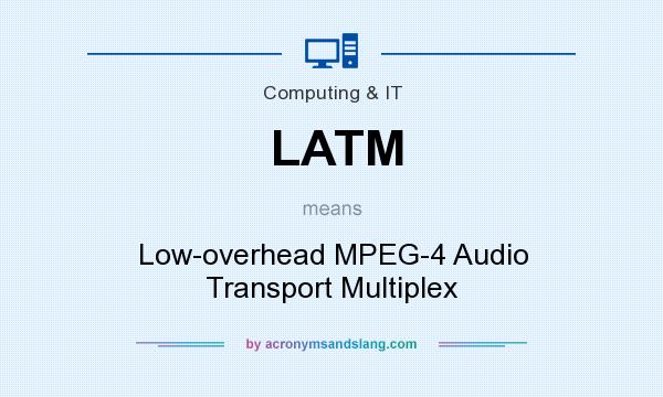 What does LATM mean? It stands for Low-overhead MPEG-4 Audio Transport Multiplex