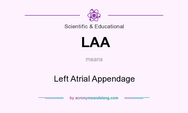 What does LAA mean? It stands for Left Atrial Appendage