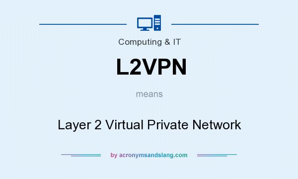 What does L2VPN mean? It stands for Layer 2 Virtual Private Network