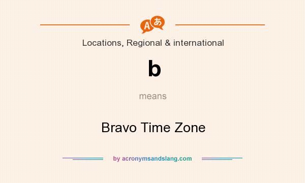 What does b mean? It stands for Bravo Time Zone