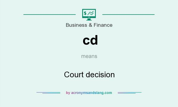 What does cd mean? It stands for Court decision