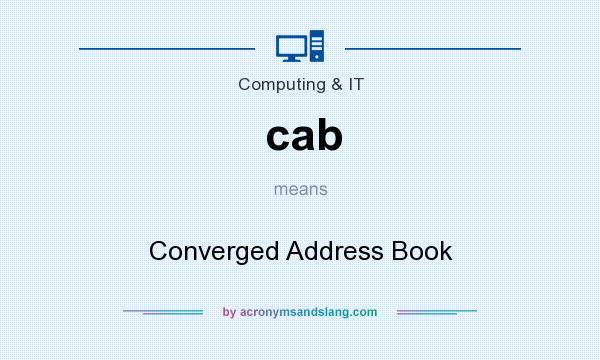 What does cab mean? It stands for Converged Address Book