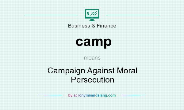 What does camp mean? It stands for Campaign Against Moral Persecution