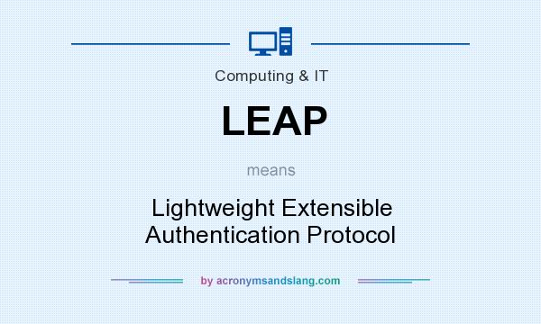 What does LEAP mean? It stands for Lightweight Extensible Authentication Protocol