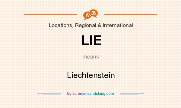 What does LIE mean? It stands for Liechtenstein