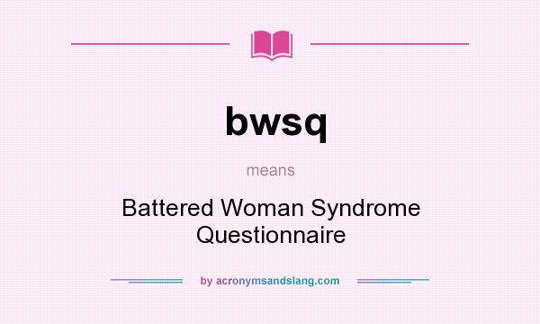 an analysis of classical theories related to battered womens syndrome Classical studies economics and expert testimony that she is a battered woman suffering from 'battered woman syndrome' theory of forfeiture and.