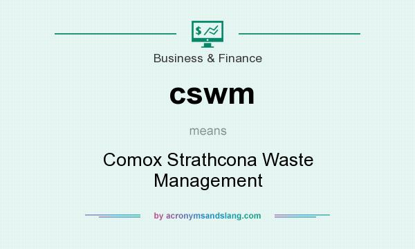 What does cswm mean? It stands for Comox Strathcona Waste Management