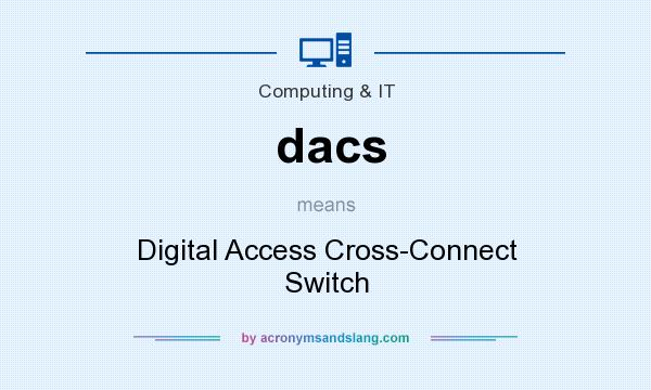 What does dacs mean? It stands for Digital Access Cross-Connect Switch