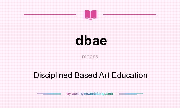 an overview of disciplined based arts education