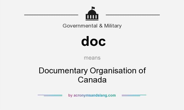 What does doc mean? It stands for Documentary Organisation of Canada