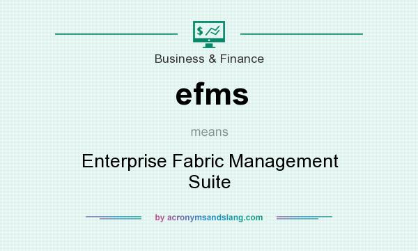What does efms mean? It stands for Enterprise Fabric Management Suite