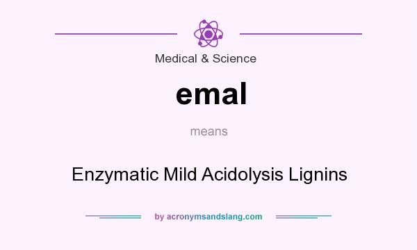 What does emal mean? It stands for Enzymatic Mild Acidolysis Lignins