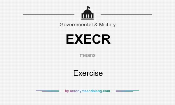 What does EXECR mean? It stands for Exercise