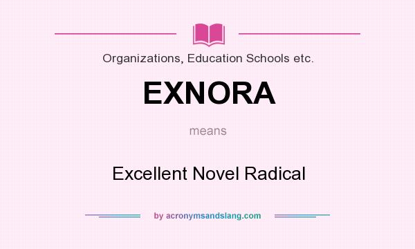 Superb Definition Of EXNORA   EXNORA Stands For Excellent Novel Radical. By  AcronymsAndSlang.com