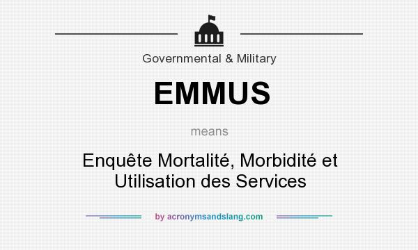 What does EMMUS mean? It stands for Enquête Mortalité, Morbidité et Utilisation des Services
