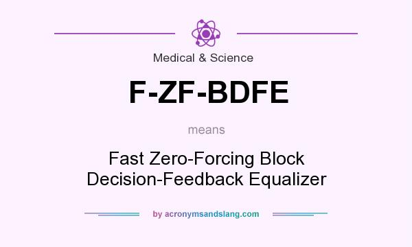 What does F-ZF-BDFE mean? It stands for Fast Zero-Forcing Block Decision-Feedback Equalizer