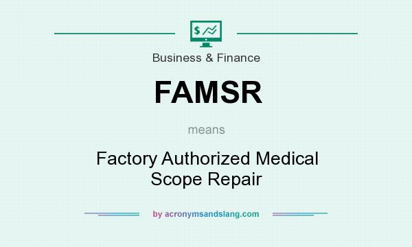What does FAMSR mean? It stands for Factory Authorized Medical Scope Repair