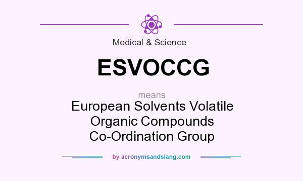 What does ESVOCCG mean? It stands for European Solvents Volatile Organic Compounds Co-Ordination Group