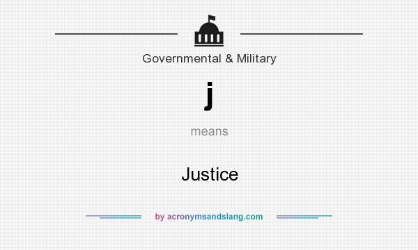 What does j mean? It stands for Justice