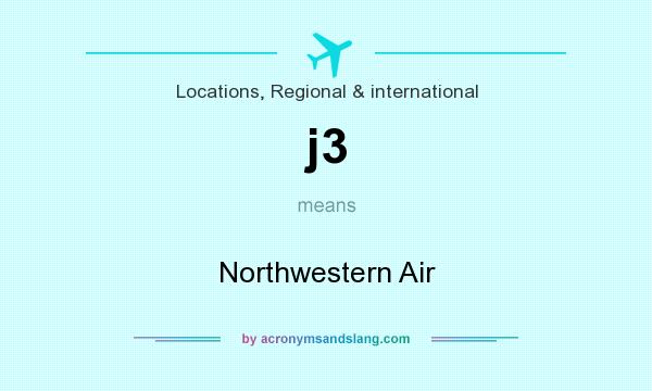 What does j3 mean? It stands for Northwestern Air
