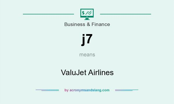 What does j7 mean? It stands for ValuJet Airlines