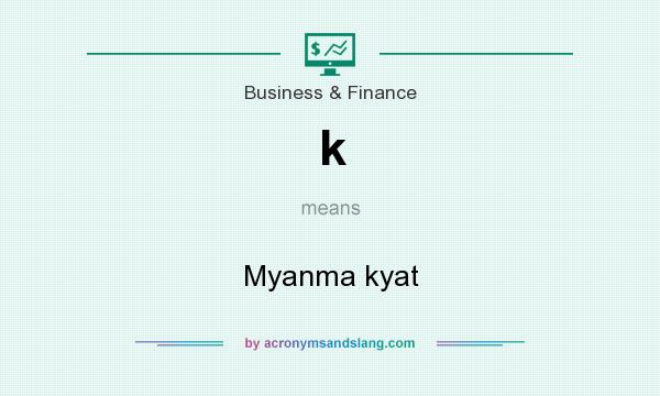 What does k mean? It stands for Myanma kyat