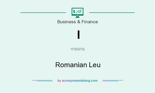 What does l mean? It stands for Romanian Leu