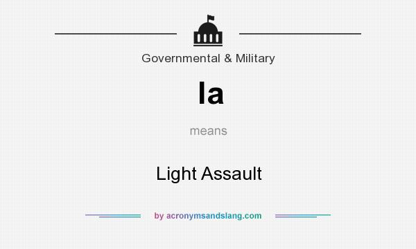 What does la mean? It stands for Light Assault
